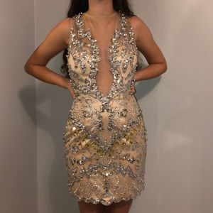 Musani Couture Gold beaded dress